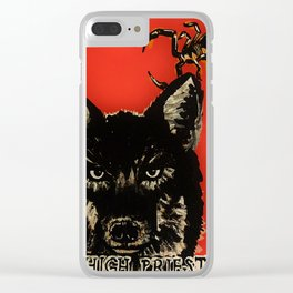 High Priestess Coyote and Scorpions Acrylic Painting Clear iPhone Case