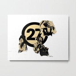 27 club Metal Print