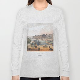 Paris art print Paris Decor office decoration vintage decor LE LOUVRE of Paris Long Sleeve T-shirt