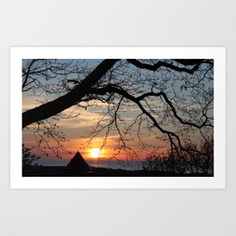 Sunset over Little Tower Art Print