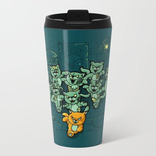 Zombie Cats Metal Travel Mug