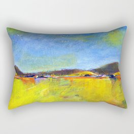 Here in the quiet hills Rectangular Pillow