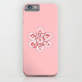 LET IT SNOW RED iPhone Case
