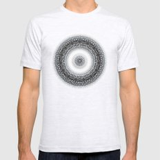 WINTER LEAVES MANDALA SMALL Ash Grey Mens Fitted Tee