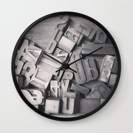 Wooden Type Letters Wall Clock