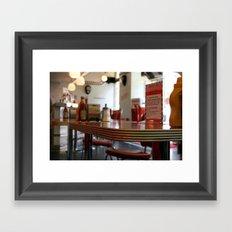 American Diner in London Framed Art Print