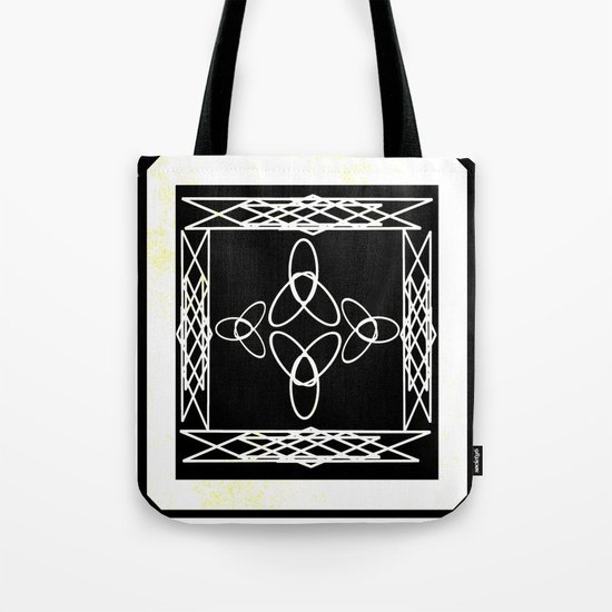 Celtic Deco Black and White Tote Bag