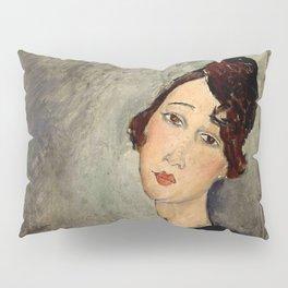 """Amedeo Modigliani """"Portrait of Dedie"""" Pillow Sham"""