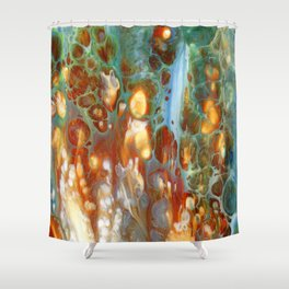 Amber River Lava Lace Flow Shower Curtain