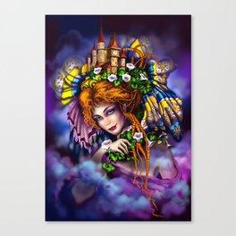 Fairy love and magic Canvas Print