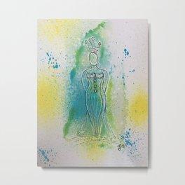 Watercolor Woman 3 Metal Print