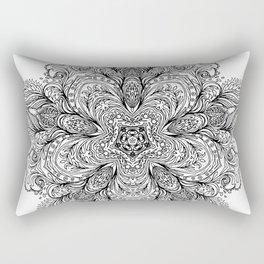 B&W Indian Mandala Rectangular Pillow