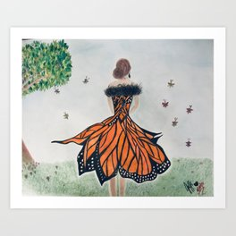 Monarch Queen Art Print