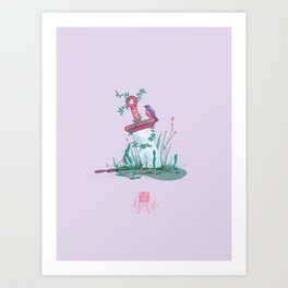 Sword of nature Art Print