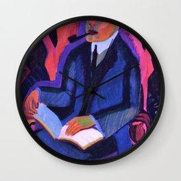 Portrait Manfred Schames - Ernst Ludwig Kirchner Wall Clock