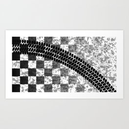 Flag Skid Mark Art Print