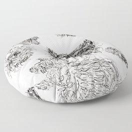 Scottish Terrier - Line Drawing Floor Pillow