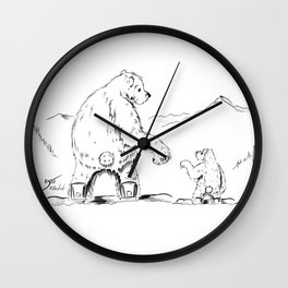 A Moments Paws Wall Clock