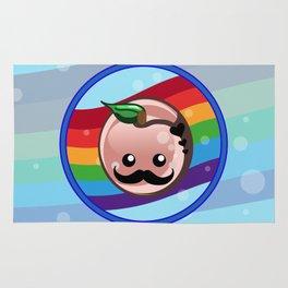 Mustache Peach Rug