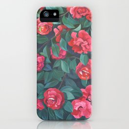 Camellias, lips and berries. iPhone Case