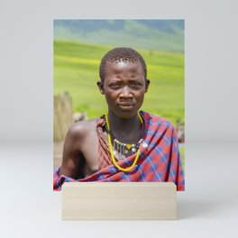 Portrait 4300 Young Maasai Mini Art Print