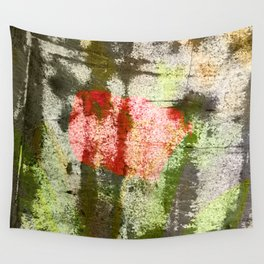 Structured Tulips Wall Tapestry