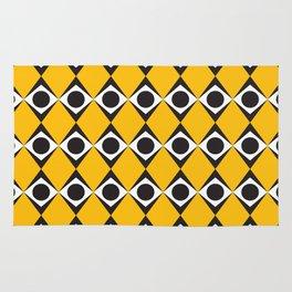 Geometric Pattern #183 (orange diamonds) Rug