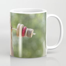 squirrel is weightlifting Coffee Mug