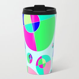 Bubble pink & green Travel Mug