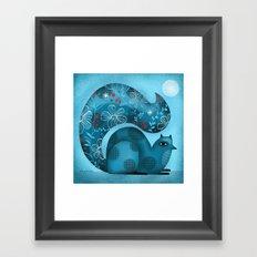 BLUE SQUIRREL Framed Art Print