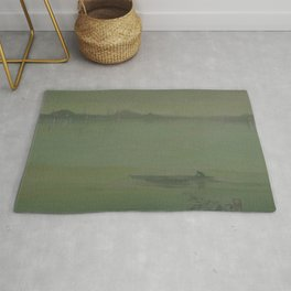Thames Nocturne by James McNeill Whistler Rug