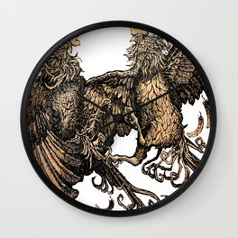 Two Kings - Roosters Wall Clock