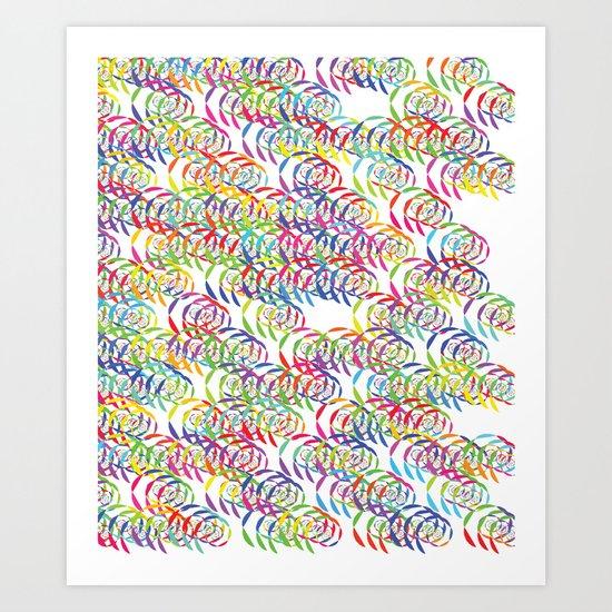 Candy Spirals Art Print