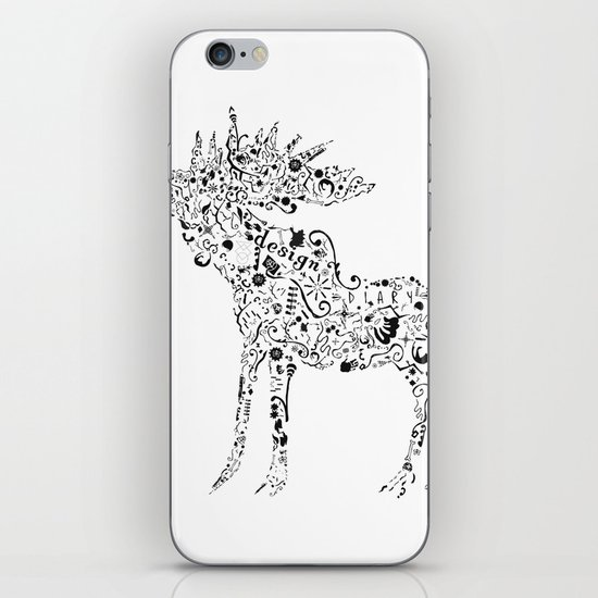 Many shapes of the Moose iPhone & iPod Skin