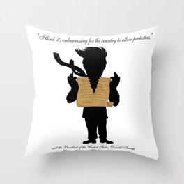 First Amendment Ripped Throw Pillow