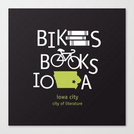 Bikes Books Iowa Canvas Print