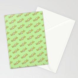 Banana Peel /green Stationery Cards