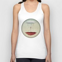 agnes Tank Tops featuring embracing the rain by Vin Zzep