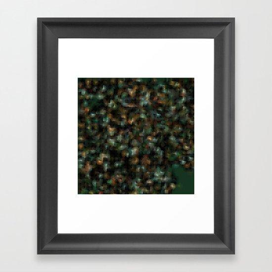 Chameleonic Written Circles - Colours from KARMA CHAMELEON 3 by Catspaws Framed Art Print