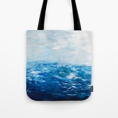 Paint 10 abstract water ocean seascape modern painting dorm room decor affordable stretched canvas Tote Bag