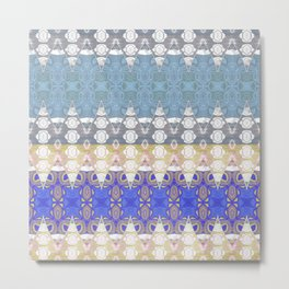 Sweet Lovely Intricate Boho Blues Lace Detail Metal Print
