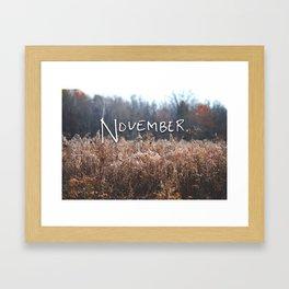November. Framed Art Print
