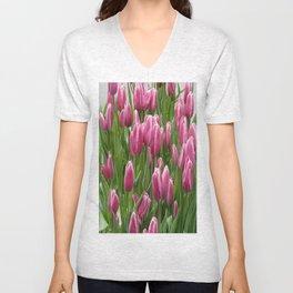 Easter Tulips in New York Unisex V-Neck