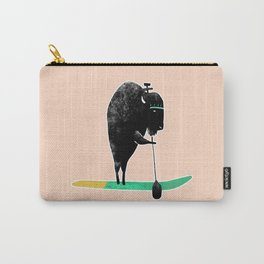 Buffalo on a baddle board in the ocean! Carry-All Pouch
