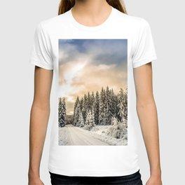 Winter Road #photography #society6 T-shirt