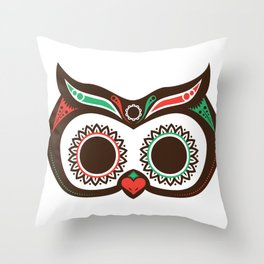 Day 0f the Dead Owl Throw Pillow