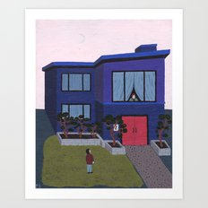 Blue House n°2 Art Print