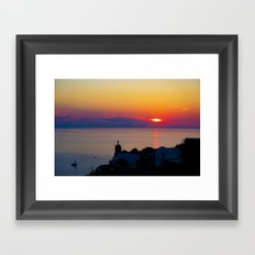 Oia Sunset Santorini Framed Art Print