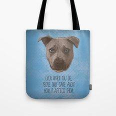 Pit Bull Print Tote Bag