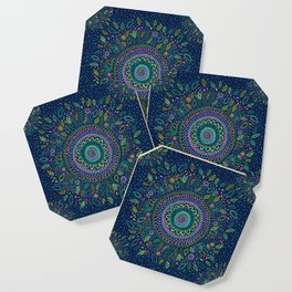 Midnight Garden Mandala Coaster